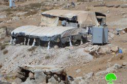 إخطارات بوقف العمل في منشآت بوادي الرخيم جنوب بلدة يطا