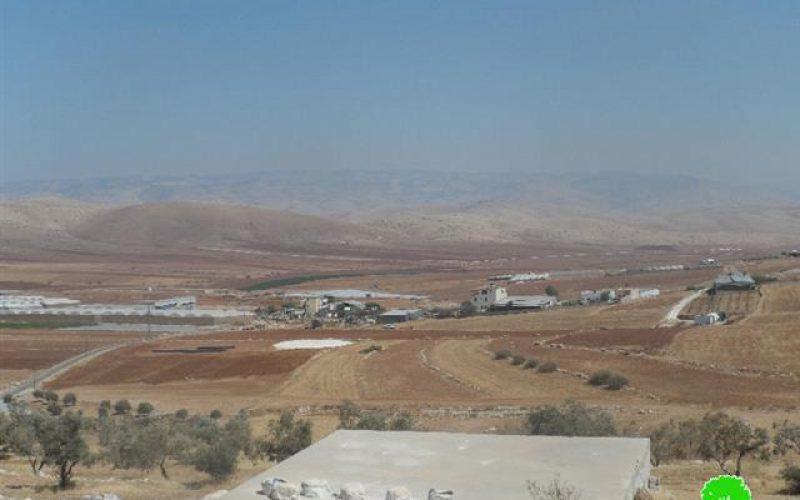 الاحتلال الإسرائيلي يصادر خطوط ناقلة للمياه بطول 1300م من منطقة سهل البقيعة