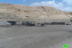 إخطارات بوقف البناء لمنشآت زراعية في خربة يرزا / محافظة طوباس