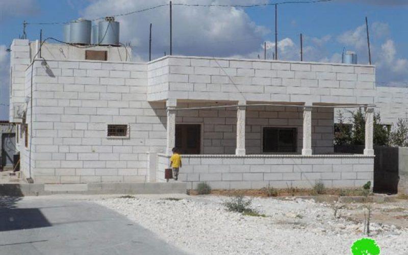 الاحتلال يهدد بهدم 3 مساكن في خلة إبراهيم غرب بلدة إذنا