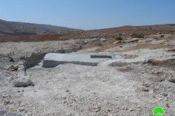 """الاحتلال يهدد بهدم منشآت زراعية في منطقة """" جدوعان """" شرق يطا"""