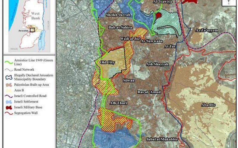 النشاطات الاستيطانية الاسرائيلية في بلدة سلوان في القدس