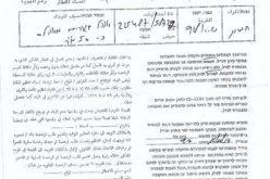 الاحتلال يخطر بوقف العمل في خيام للسكن وحظيرة بخربة الفخيت شرق يطا