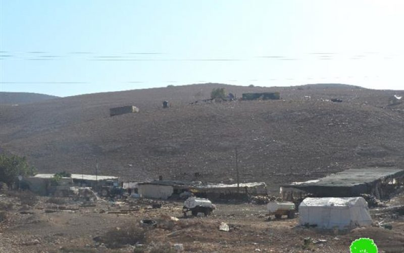 The Israeli occupation Army confiscated three tractors from Khirbet Ibziq
