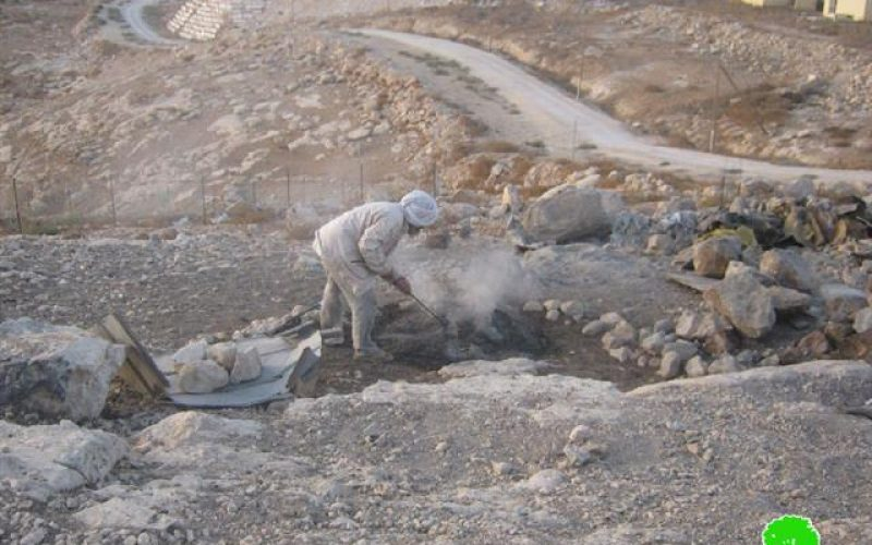The Israeli occupation demolishes number of structures in Yatta