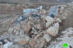 الاحتلال الإسرائيلي يستهدف خربة الطويل بعمليات الهدم مجدداً / محافظة نابلس