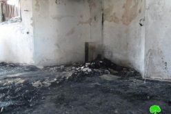 مستعمرون متطرفون يحرقون مسجد عثمان بن عفان في قرية المغير / محافظة رام الله