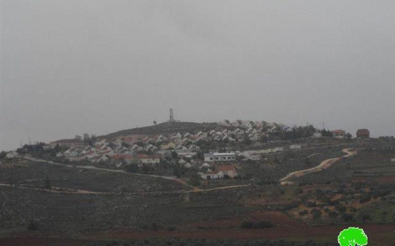 الإعلان عن مصادرة 221 دونماً لصالح بناء وحدات استعمارية جديدة في قرى الريف الجنوبي / محافظة نابلس