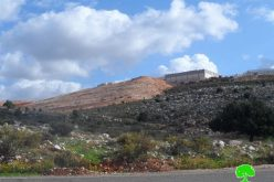"""أعمال توسعة تشهدها مستعمرة """" مصانع أرائيل """" على أراضي بلدة بروقين"""