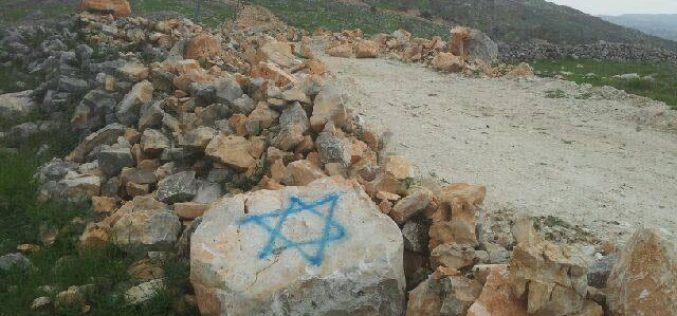 """Colonists spray paint """"hatred inciting"""" slogans on walls in Burin village"""