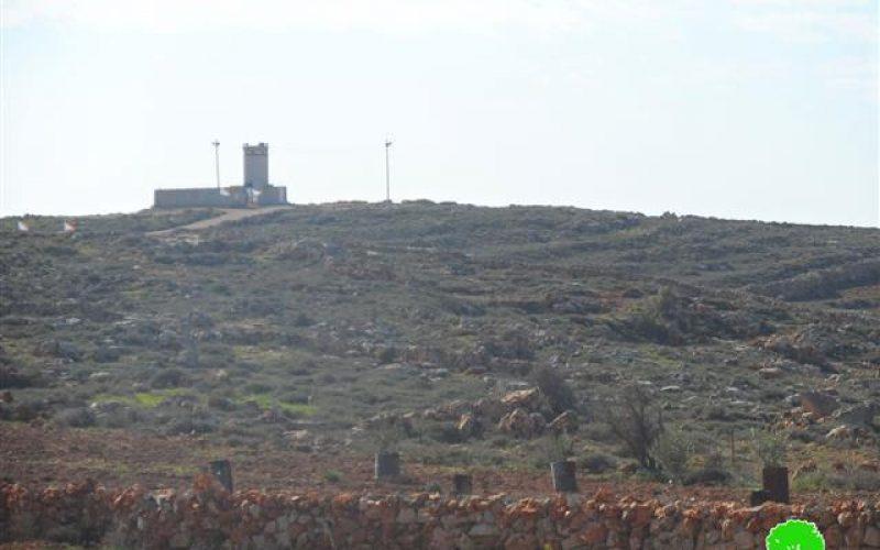 The Israeli occupation establishes a military zone in Qusra village