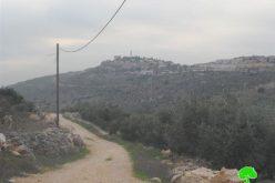 الاحتلال الإسرائيلي يمنع تأهيل طريق زراعية في بلدة كفر الديك