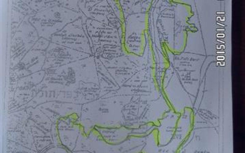 """مستعمرو البؤرة الاستعمارية """" إيل متان""""  يشقون طريق جديدة على أراض بلدة كفر ثلث"""