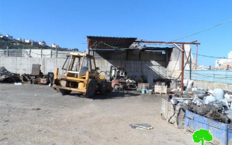 Stop-work orders on barracks in Idhna village in Hebron