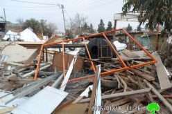 The Israeli occupation demolish a smithy in al-Bireh city