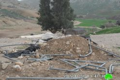 The Israeli occupation totally razes Umm Jamal dwelling