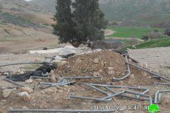 """الاحتلال الإسرائيلي يستهدف خربة """" أم الجمال"""" بالهدم مجدداً"""