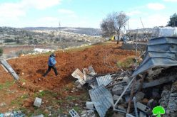The Israeli occupation demolishes a agricultural structure in Hebron