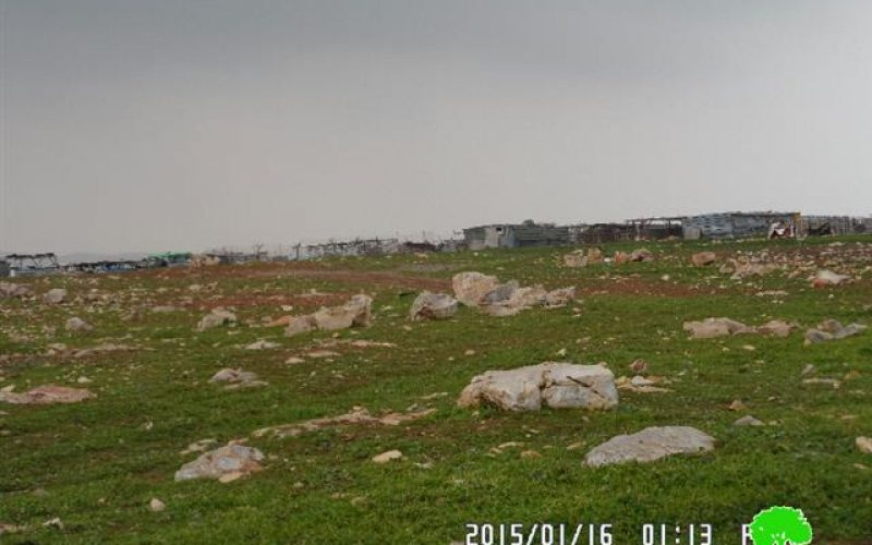 The Israeli occupation demolishes 3 agricultural barracks in Mukhmas