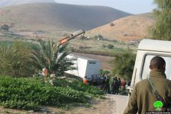 The Israeli occupation demolishes barracks and tents in Jericho