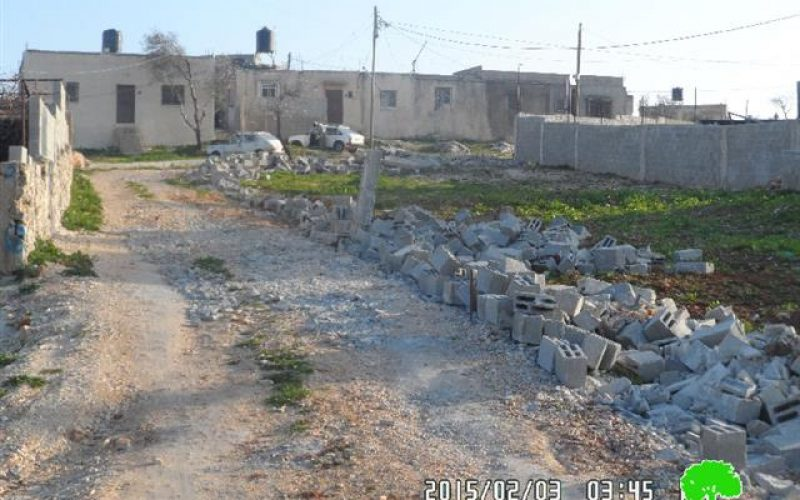 The Israeli occupation demolishes agricultural rooms, water pool and retaining walls in Nablus