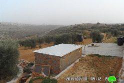 إخطارات بوقف البناء لخمسة آبار في بلدة سلواد