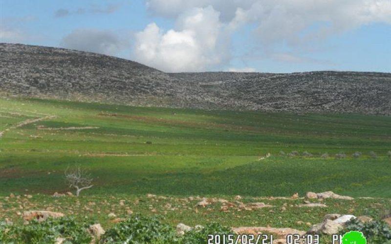 The Israeli occupation bans rehabilitation works on cisterns in Nablus