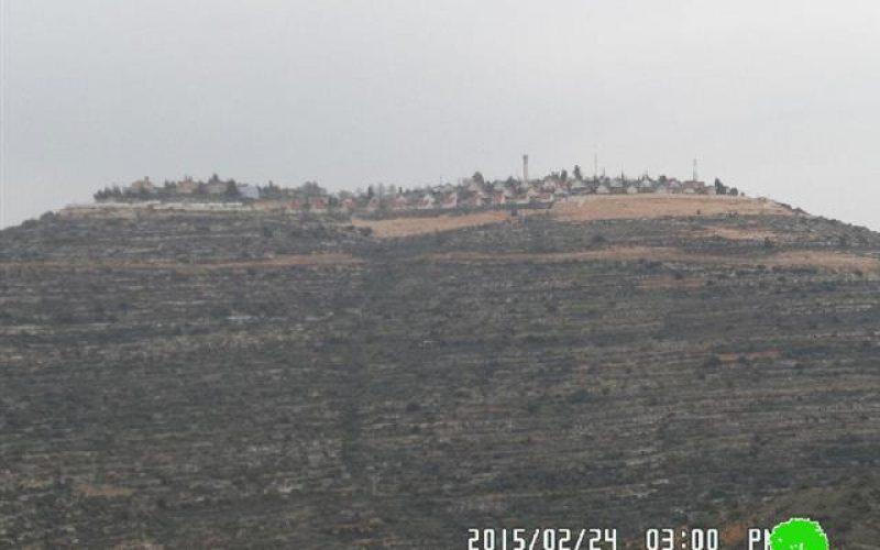 """أعمال توسعة تشهدها مستعمرة """" معاليه لبونة"""" على أراض قرية اللبن الشرقي"""