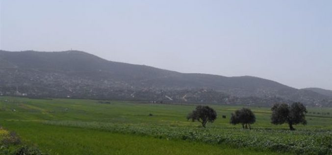 Stop-work order on structures in the village of Beit Dajan