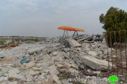 Demolition of a three-story house in the Tulkarm village of al-Jarushiya