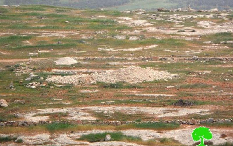 إخطار بوقف العمل في بئر مياه بخربة أم نير جنوب يطا / محافظة الخليل