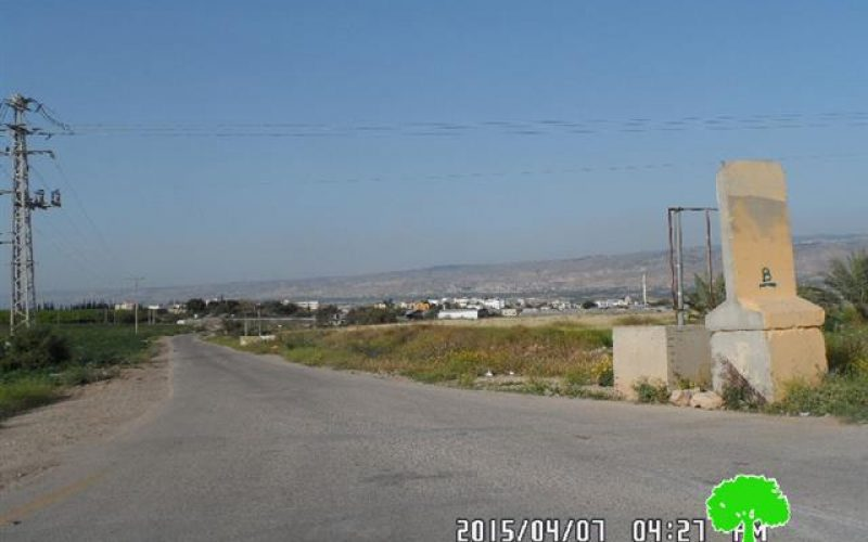 The Israeli occupation halts the opening of a agricultural road in Tubas