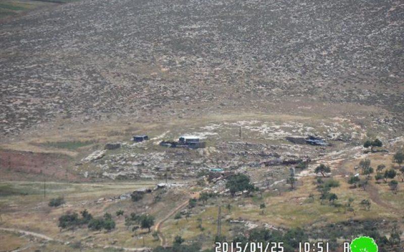 الاحتلال الإسرائيلي ينفذ تدريبات عسكرية في خربة الطويل