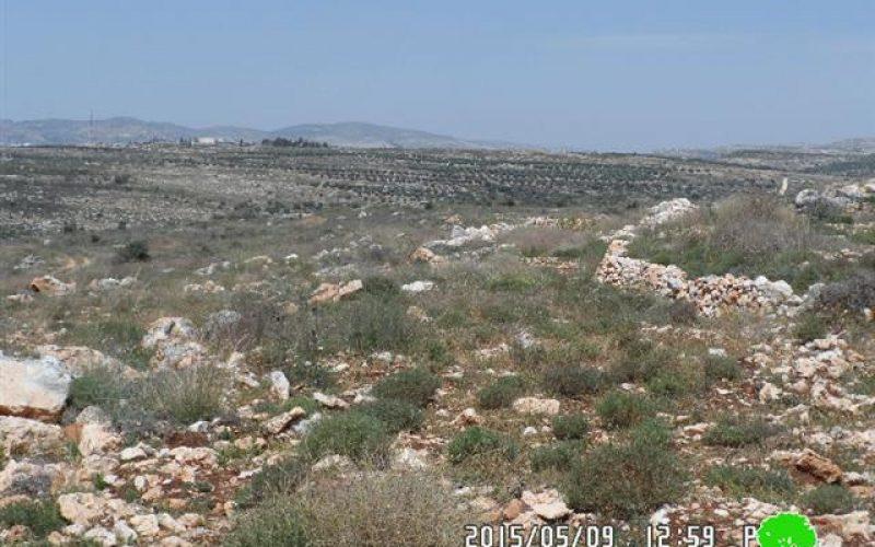 Demolishing two water cistern in the Qalqilya village of Kfar Qaddum
