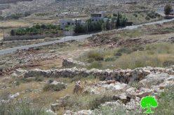 تجريف أراضي زراعية وتخريب مزروعات في منطقة سوبا غرب الخليل