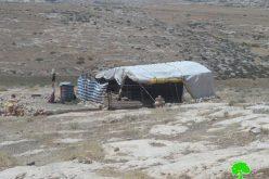 الاحتلال يهدد بهدم 3 منشآت في خربة وادي جحيش جنوب بلدة يطا