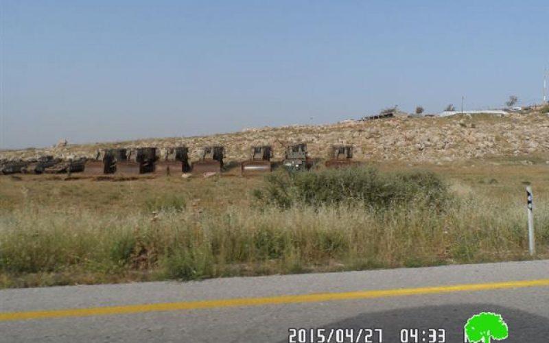 توسيع دائرة التدريبات العسكرية التي يجريها الاحتلال في منطقة الأغوار