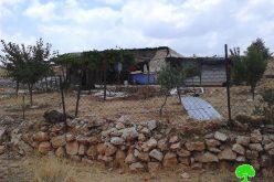 إخطارات بوقف البناء تطال مساكن 7 عائلات بدوية شرق قرية رمون