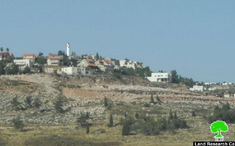 Shilo colony undergo expansion works at the expense of the Nablus village of Qaryut