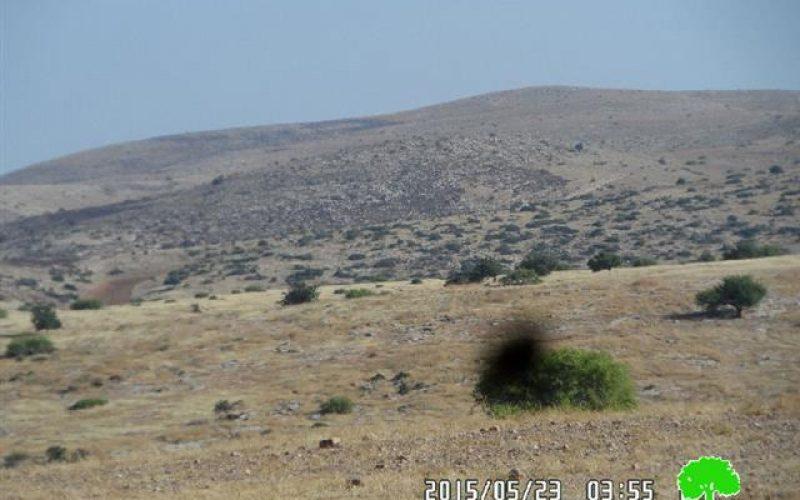 إحراق المئات من الدونمات الرعوية في منطقة واد المالح