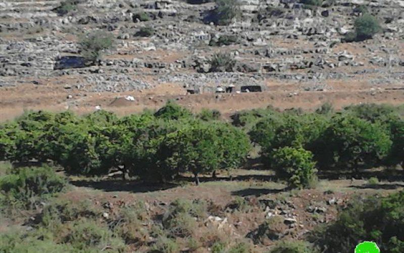 ما تسمى سلطة حماية الطبيعة الإسرائيلية تلزم مزارع في منطقة واد قانا بالإخلاء الفوري