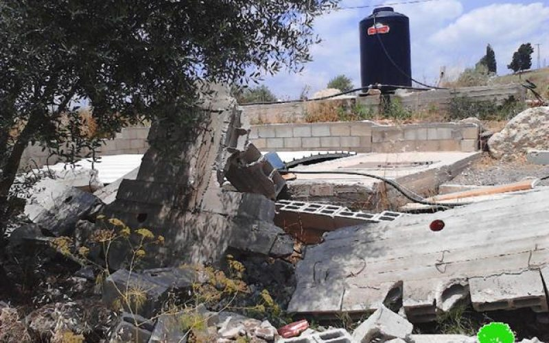 Demolition of a agricultural room in the Jenin village of Rummana