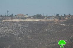 Colonists of Givat Ronen continue taking over lands from the Nablus village of Huwwara