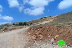 Stop-work and demolition orders on agricultural roads in the Hebron town of Halhul