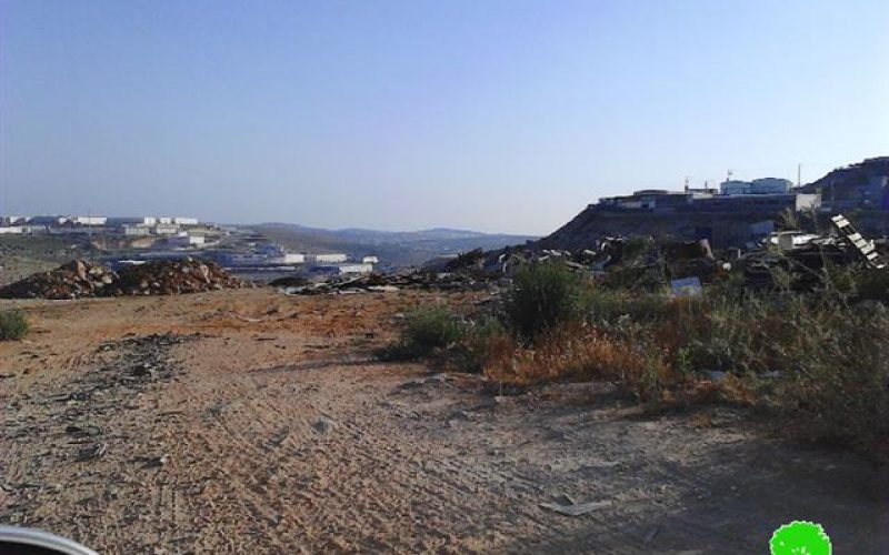 A demolition order on a agricultural road in the Salfit village of Haris