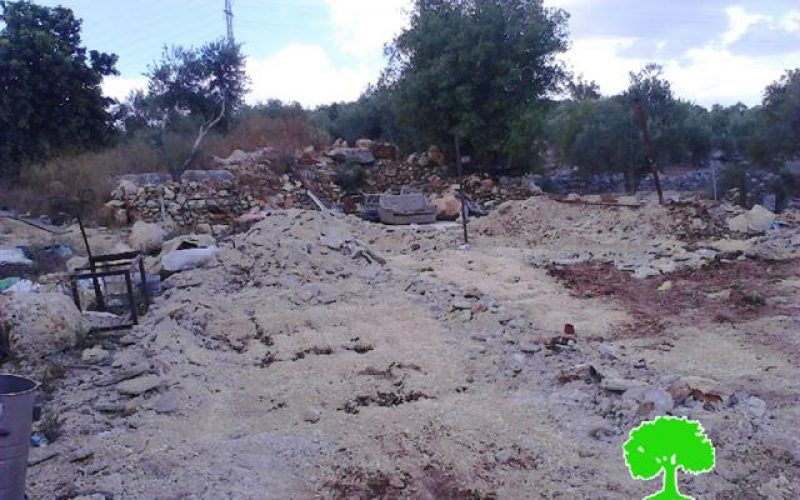 الاحتلال الاسرائيلي يهدم مغسلة للسيارات في قرية حارس