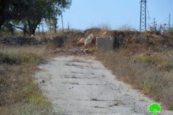 الاحتلال يصر على إغلاق مدخل قرية برقة الرئيسي رغم مرور 15 عاماً على إغلاقه