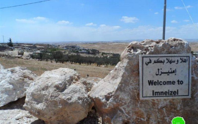 اخطار بوقف العمل في مشروع خزان مياه بقرية منيزل