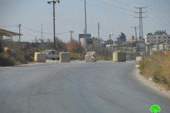 الاحتلال  الاسرائيلي يغلق مجدداً طريق الجلزون – البيرة