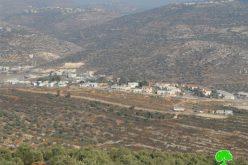 الاحتلال الاسرائيلي يوقف العمل في شق طريق زراعية في قرية ياسوف